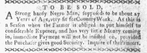 May 23 - Boston-Gazette Slavery 2