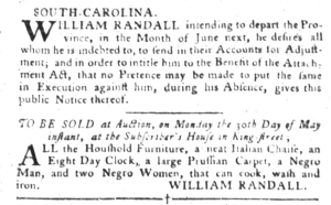 May 24 - South-Carolina Gazette and Country Journal Supplement Slavery 2