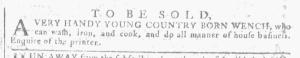 May 25 - Georgia Gazette Slavery 1