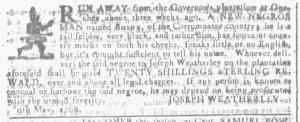 May 25 - Georgia Gazette Slavery 6