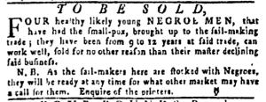 May 26 - Pennsylvania Gazette Slavery 3