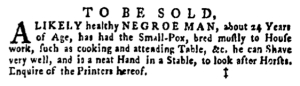 May 26 - Pennsylvania Gazette Supplement Slavery 2