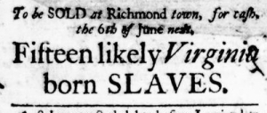 May 26 - Virginia Gazette Purdie and Dixon Slavery 4