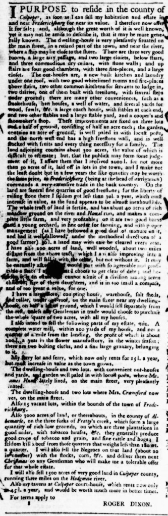 May 26 - Virginia Gazette Purdie and Dixon Slavery 6
