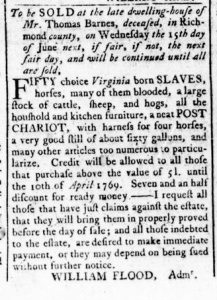 May 26 - Virginia Gazette Rind Slavery 2