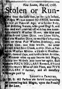 May 27 - New-London Gazette Slavery 1