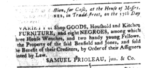 May 31 - South-Carolina Gazette and Country Journal Slavery 1