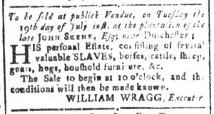 Jul 1 - South Carolina and American General Gazette Slavery 15