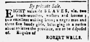 Jul 1 - South Carolina and American General Gazette Slavery 2