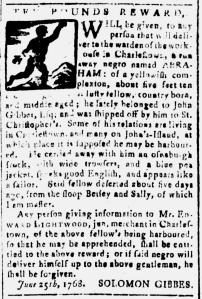 Jul 1 - South Carolina and American General Gazette Slavery 3