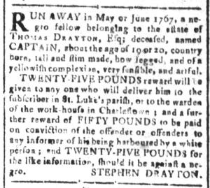 Jul 1 - South Carolina and American General Gazette Slavery 9