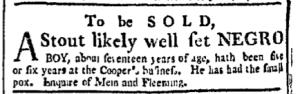 Jul 11 - Boston Chronicle Slavery 1