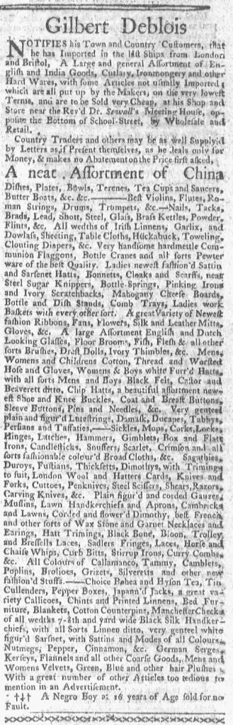Jul 11 - Boston-Gazette Slavery 1
