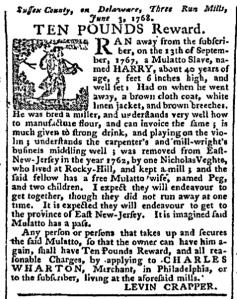Jul 11 - Pennsylvania Chronicle Slavery 1