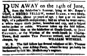 Jul 11 - South-Carolina Gazette Postscript Slavery 2