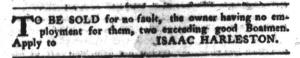 Jul 12 - South-Carolina Gazette and Country Journal Slavery 10
