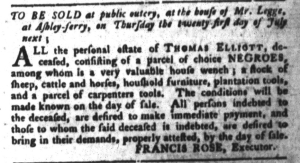 Jul 12 - South-Carolina Gazette and Country Journal Slavery 8