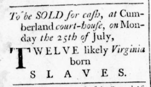 Jul 14 - Virginia Gazette Rind Slavery 3