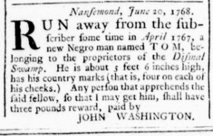 Jul 14 - Virginia Gazette Rind Slavery 5