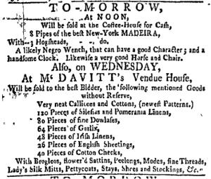 Jul 4 - New-York Gazette Weekly Mercury Jul 4 - Newport Mercury Slavery 2
