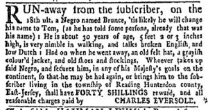 Jul 4 - New-York Gazette Weekly Mercury Supplement Slavery 3