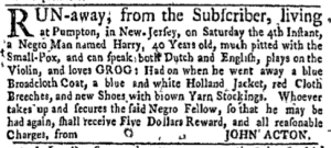 Jul 4 - New-York Gazette Weekly Mercury Supplement Slavery 5
