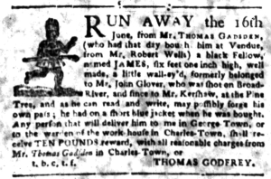 Jul 4 - South-Carolina Gazette Slavery 13