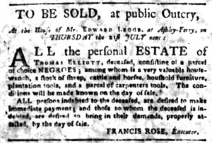 Jul 4 - South-Carolina Gazette Slavery 14