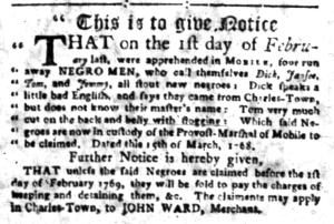 Jul 4 - South-Carolina Gazette Slavery 16