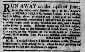 Jul 4 - South-Carolina Gazette Slavery 4
