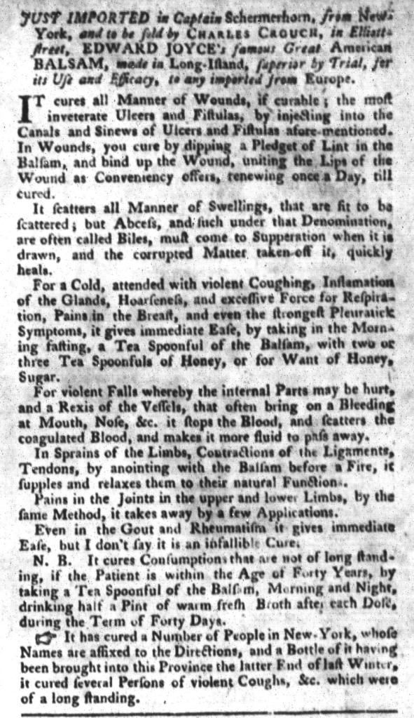 Jul 5 - 7:5:1768 South-Carolina Gazette and Country Journal