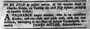Jul 5 - South-Carolina Gazette and Country Journal Slavery 3