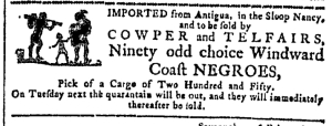 Jul 6 - Georgia Gazette Slavery 1