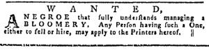 Jul 7 - Pennsylvania Gazette Slavery 2
