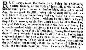 Jul 7 - Pennsylvania Gazette Supplement Slavery 2