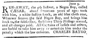 Jul 7 - Pennsylvania Journal Supplement Slavery 1