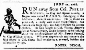Jul 7 - Virginia Gazette Purdie and Dixon Slavery 2