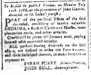 Jul 8 - South Carolina and American General Gazette Slavery 10