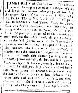Jul 8 - South Carolina and American General Gazette Slavery 19