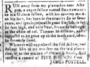 Jun 10 - South-Carolina and American General Gazette Slavery 10