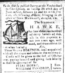 Jun 10 - South-Carolina and American General Gazette Slavery 4
