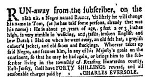 Jun 13 - New-York Gazette Weekly Mercury Slavery 3