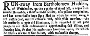 Jun 13 - New-York Gazette Weekly Mercury Slavery 4