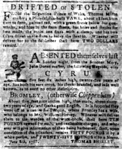 Jun 13 - South Carolina Gazette Slavery 1