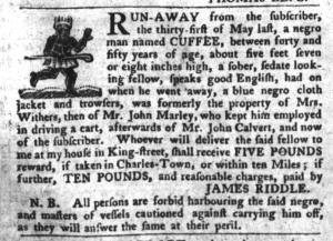 Jun 14 - South-Carolina Gazette and Country Journal Slavery 2