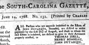 Jun 15 - 6:14:1768 South-Carolina Gazette and Country Journal