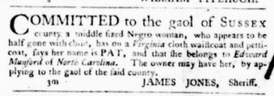 Jun 16 - Virginia Gazette Purdie and Dixon Slavery 2