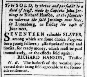 Jun 16 - Virginia Gazette Rind Slavery 4