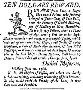 Jun 17 - New-Hampshire Gazette Slavery 1