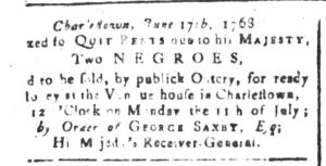 Jun 17 - South-Carolina and American General Gazette Slavery 1